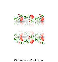 植物群的模式, 白的背景