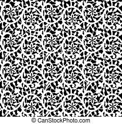 植物群的模式, 白色, seamless, 带子