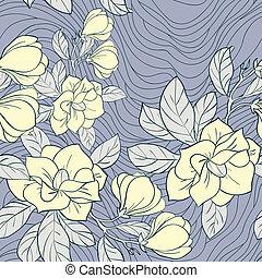 植物群的模式, 矢量, 茉莉