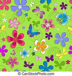 植物群的模式, seamless