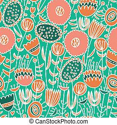 植物群的模式, seamless, 色彩丰富