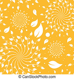 植物群的模式, seamless, 黄色