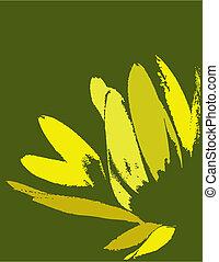 植物群的艺术