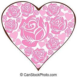 植物群, 心, 粉红色