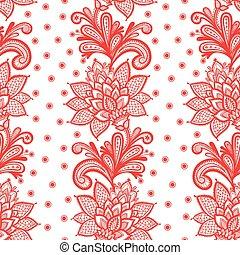 植物群, 白色, pattern., seamless, 带子