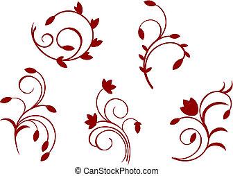 植物群, 简单, 装饰
