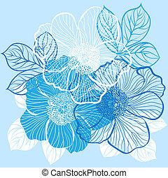 植物群, 花, 背景, 牡丹