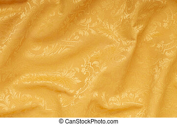 植物群, 起浪, 金子, 背景, 缎子
