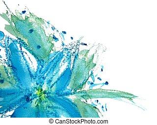 植物群, watercolor, 摘要, 2
