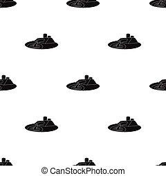 植物, ろ過, illustration., 隔離された, シンボル, スタイル, システム, 水, バックグラウンド。, ベクトル, 黒, 待遇, 白, アイコン, 株