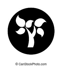 植物, エコロジー, 木, シンボル