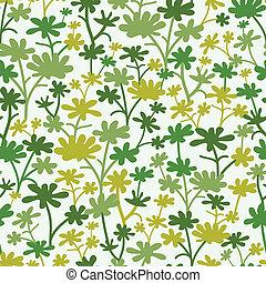 植物, パターン, 緑, seamless, 背景
