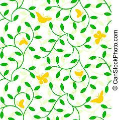 植物, パターン, seamless