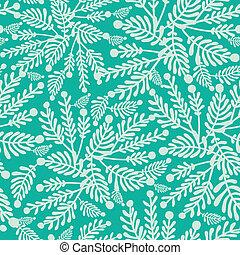 植物, パターン, seamless, 緑の背景, エメラルド
