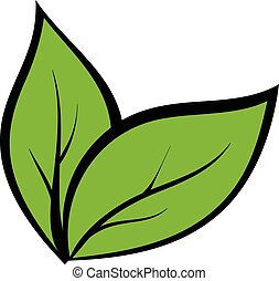 植物, 実生植物, 漫画, アイコン