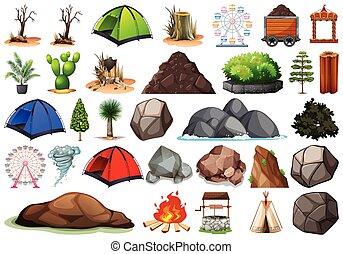 植物, 屋外, 自然, themed, コレクション, オブジェクト, 要素