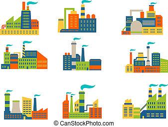 植物, 工場, セット