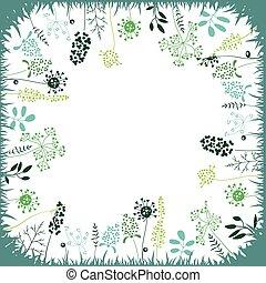 植物, 広場, 抽象的, 定型, ハーブ, テンプレート, 花