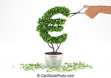 植物, 形。, レンダリング, potted, eur, 3d