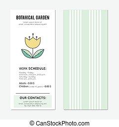 植物, 旗, 庭, 縦