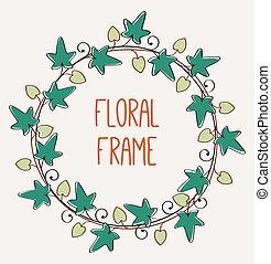 植物, 框架, 浪漫