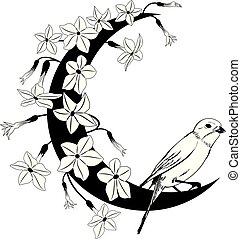 植物, 框架, 開花, 煙草, 鳥