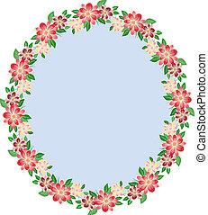 植物, 橢圓形, 框架