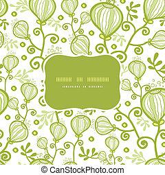 植物, 水中, パターン, 抽象的, seamless, 背景, フレーム