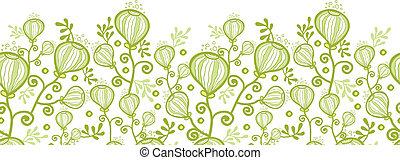 植物, 水中, パターン, 抽象的, seamless, 背景, 横