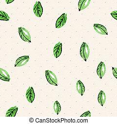 植物, 水彩, seamless, 結構