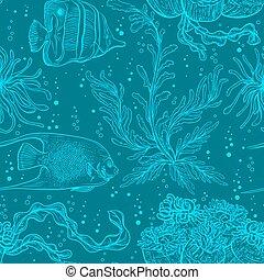 植物, 海洋, パターン