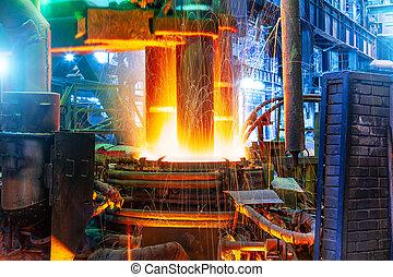 植物, 炉, metallurgical, electroarc