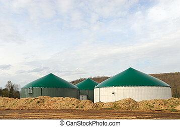 植物, 現代, biogas, 力