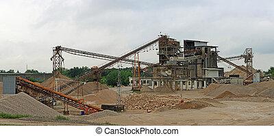 植物, 産業, コンクリート, 砂, 生産, 砂利