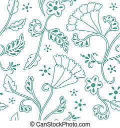 植物, 畫, 手, seamless, 圖案