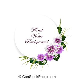植物, 矢量, 背景。