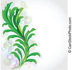 植物, 緑, フレーム, 背景