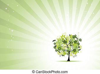 植物, 美麗, 樹