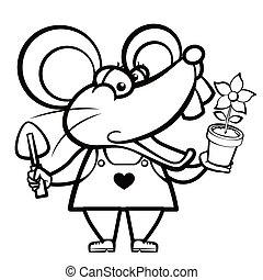 植物, 老鼠, 地形, 卡通漫画