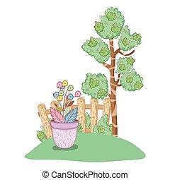 植物, 花, 木, 庭