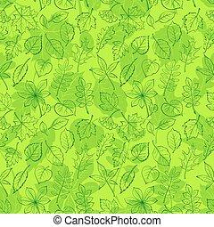 植物, 葉, pictogram, seamless