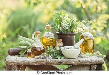 植物, 薬効がある, マッサージは 油をさす