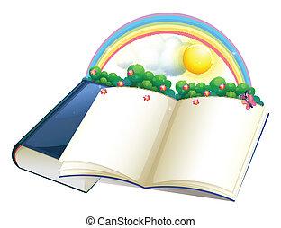 植物, 虹, storybook