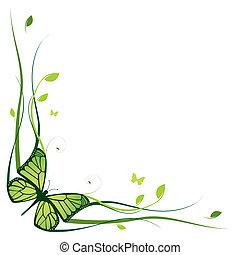 植物, 雅致, 邊框