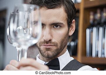 検査, バーテンダー, wineglass, ワイン醸造工場