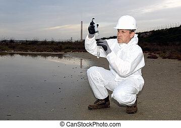 検査, 保護である, 労働者, 汚染, スーツ
