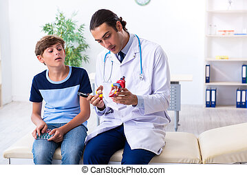 検査, 医者, 男の子, 医院, マレの若者
