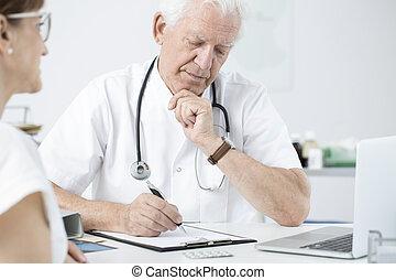 検査, 患者, 医者