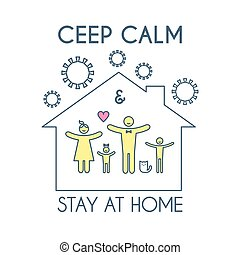 検疫, 滞在, ウイルス, agitation., home., コロナ, ceep, self-isolation...