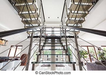 楼梯, 在中, 广阔, 住处